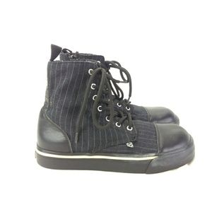 TUK Women US 9 UK 8 Blk Hightop Sneaker 229-20